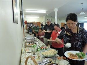 Lunch being served at Bethlehem